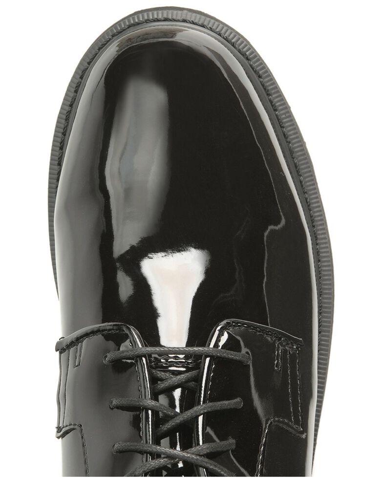 Rocky High Gloss Dress Leather Oxford Dress Duty Shoes, Black, hi-res