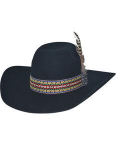 8129591c1c5 Bullhide Black Feather Dance 4X Felt Hat