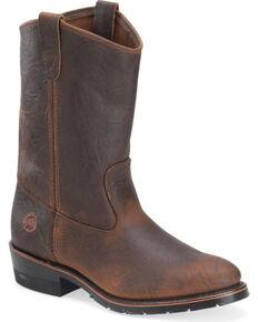Double-H Men's AG7 Ranch Wellington Boots - Round Toe , Brown, hi-res