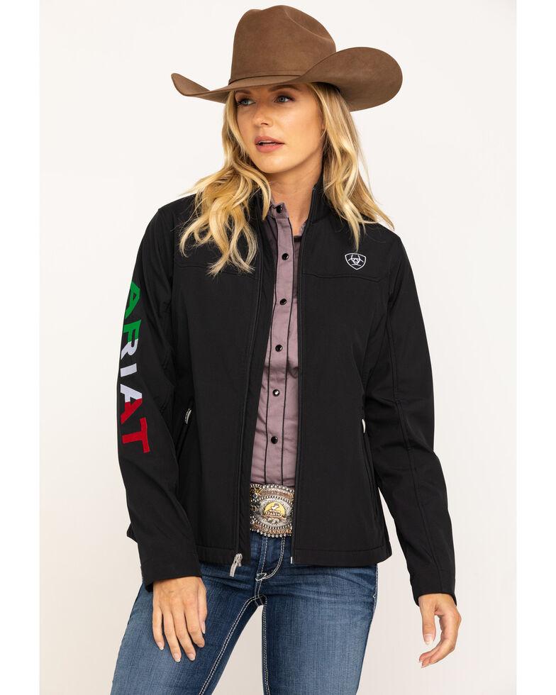 Ariat Women's Mexican Flag Team Softshell Jacket, , hi-res