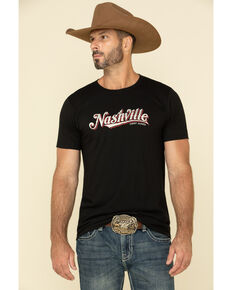 Cody James Men's Nashville Graphic Short Sleeve T-Shirt , Black, hi-res