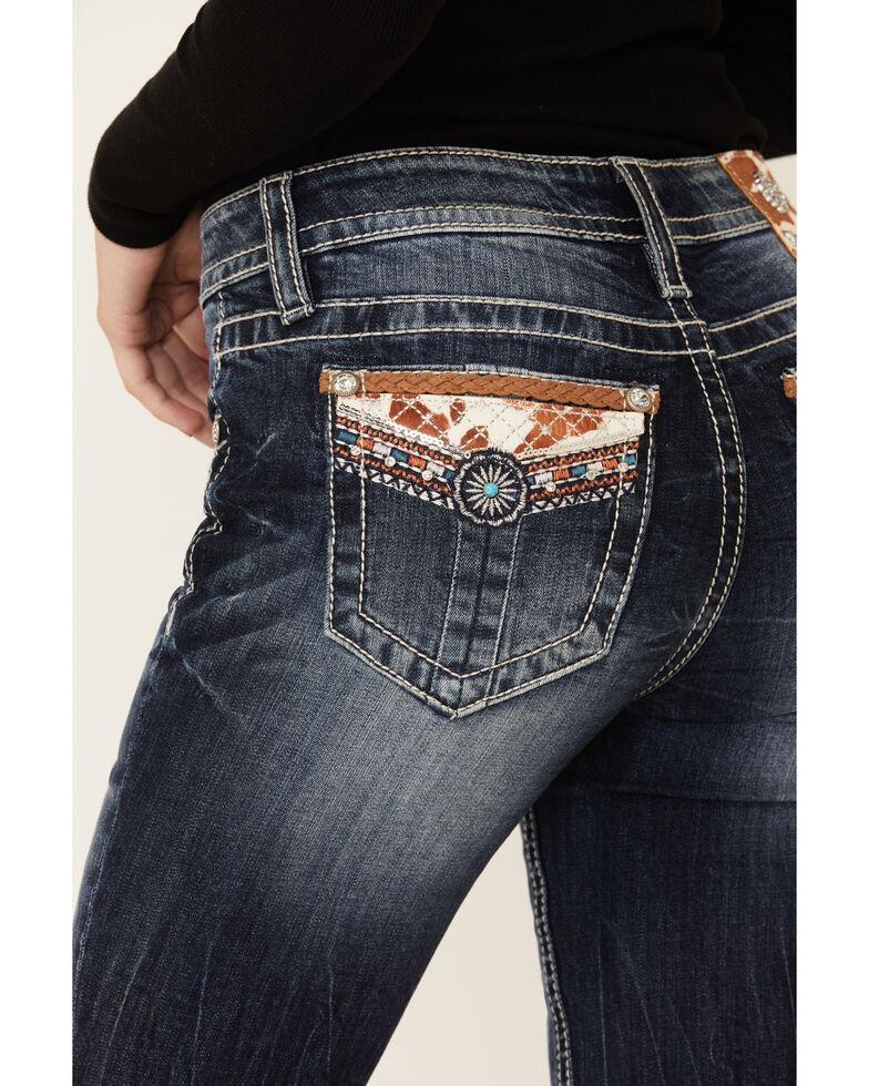 Miss Me Women's Western Decorative Emblem Chloe Bootcut Jeans , Blue, hi-res