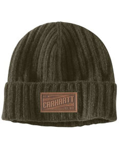 Carhartt Men's Loden Seaford Rib Knit Fleece Work Hat , Loden, hi-res