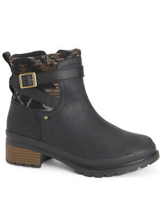 Muck Boots Women's Liberty Ankle Supreme Fashion Booties - Round Toe, Black, hi-res