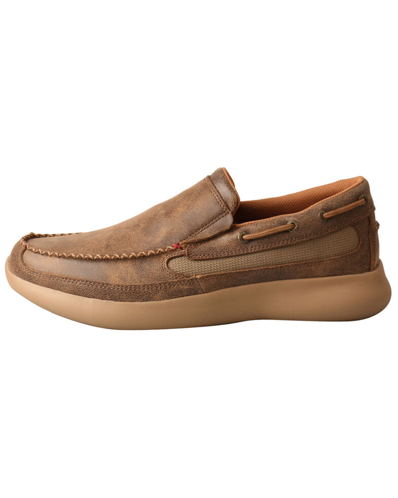 Twisted X Men's CellStretch Driving Shoes - Moc Toe, Brown, hi-res