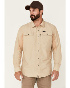 ATG™ by Wrangler Men's All Terrain Twill Mix Material Utility Long Sleeve Western Shirt, Multi, hi-res