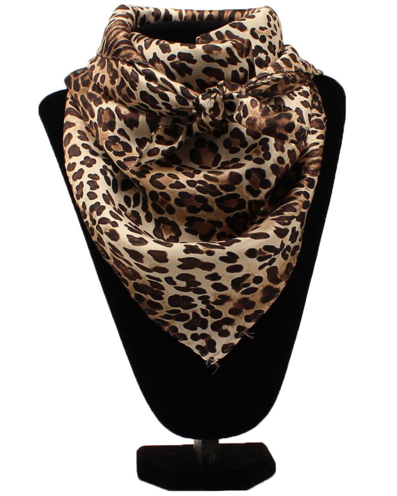 M&F Western Women's Leopard Scarf, Brown, hi-res