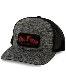 Oil Field Hats Men's Black & Red OFL Patch Mesh-Back Ball Cap , Black, hi-res