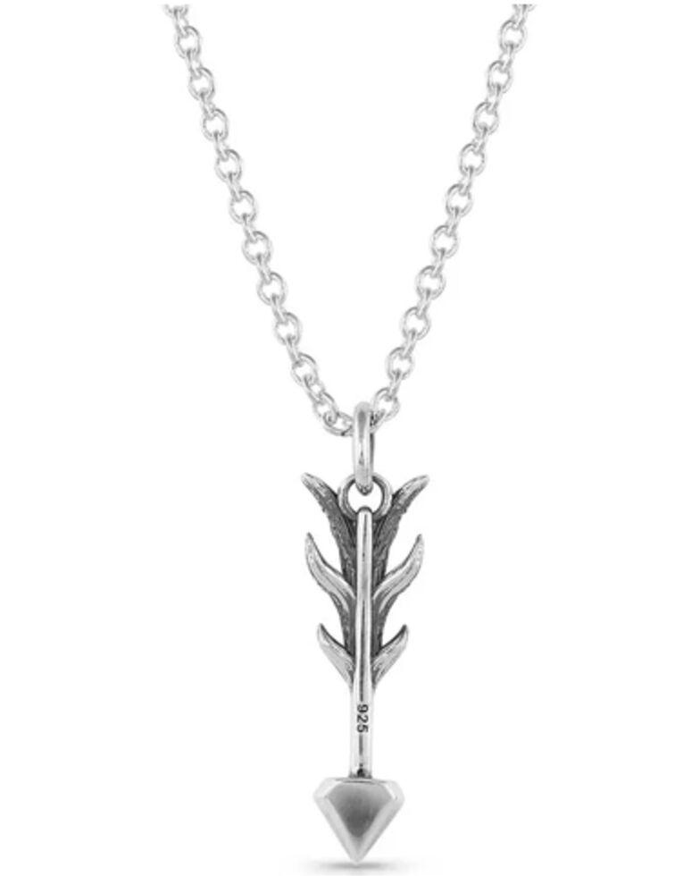 Montana Silversmiths Women's Kristy Titus Nature's Dart Arrow Necklace, Silver, hi-res