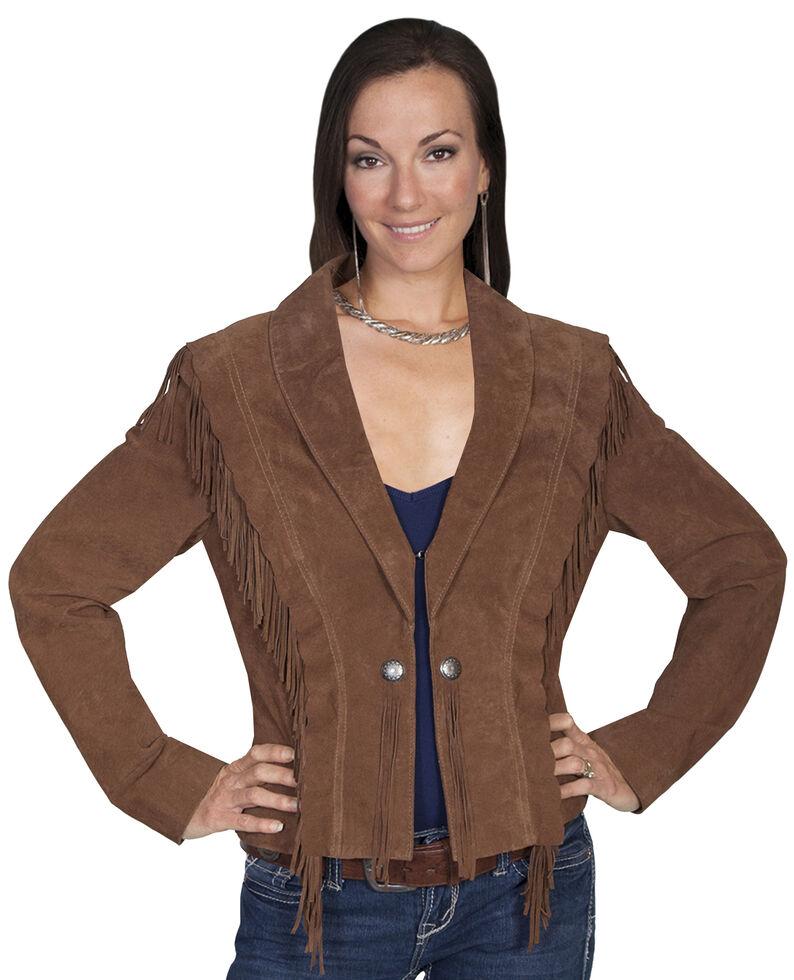 Scully Bolero Fringe Suede Jacket, Cinnamon, hi-res