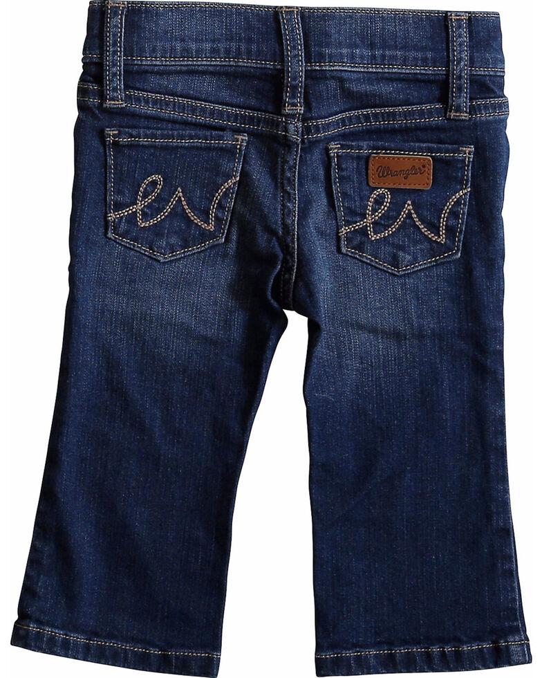 Wrangler Toddler Girls' Western 5 Pocket Jeans - Skinny, Blue, hi-res