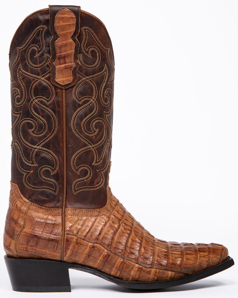Moonshine Spirit Men's Rock City Fuscus Caiman Western Boots - Snip Toe, Tan, hi-res