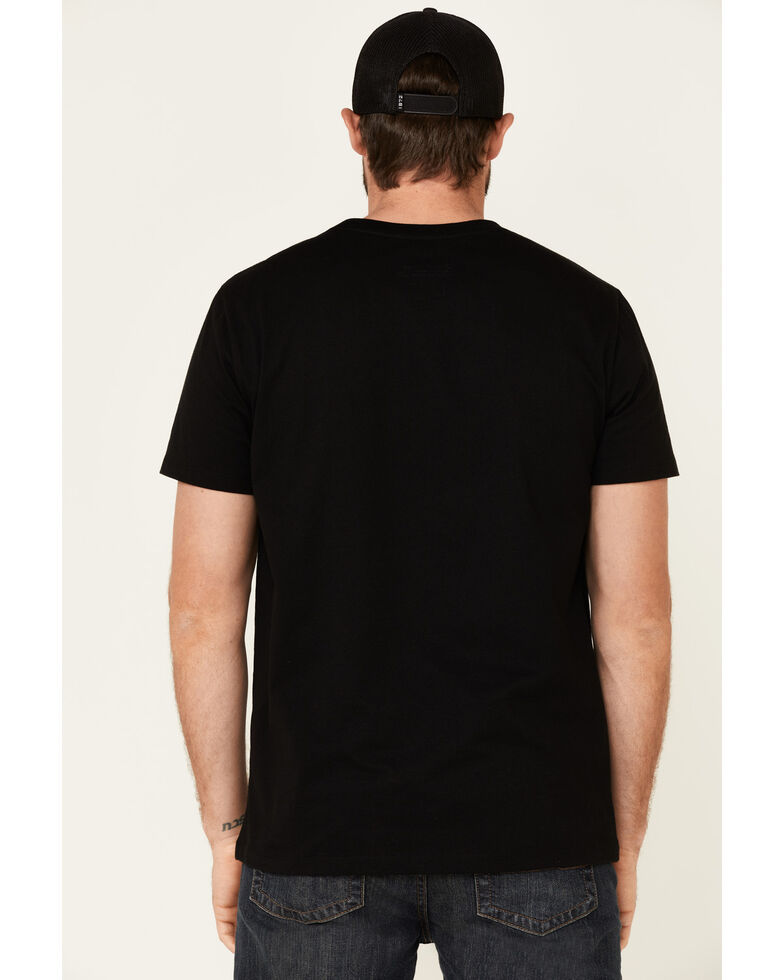Rock & Roll Denim Men's Black Texas Flag Logo Graphic T-Shirt , Black, hi-res