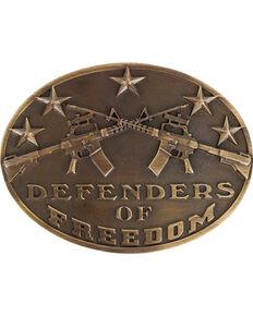 Cody James Men's Defenders of Freedom Buckle , Bronze, hi-res