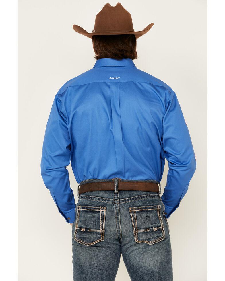 Ariat Men's Blue Team Logo Button Long Sleeve Western Shirt - Big, Blue, hi-res