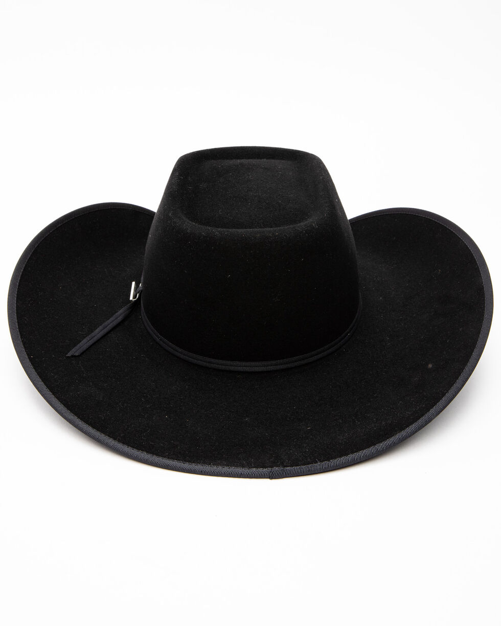 Serratelli Men's 6X Twister Black Brick Crown Cowboy Hat , Black, hi-res