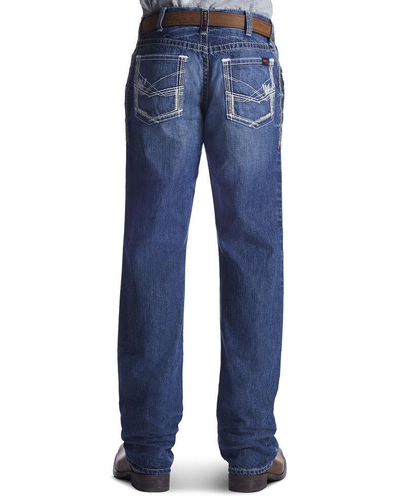 Ariat Men's Flame Resistant M4 Ridgeline Bootcut Work Jeans, Denim, hi-res