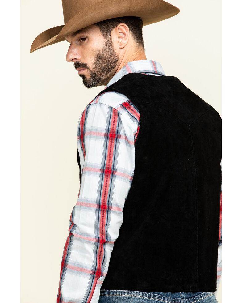 Cody James Men's Black Angus Suede Vest , Black, hi-res