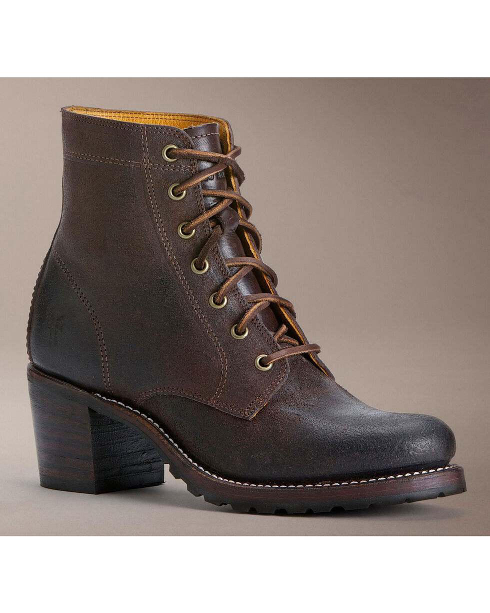 Frye Sabrina 6G Lace-Up Oiled Suede Boots, Dark Brown, hi-res