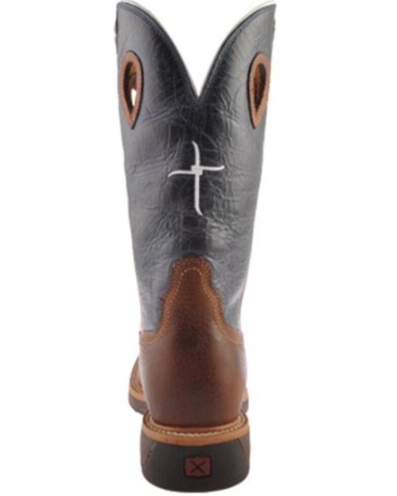 Twisted X Men's Texas Flag Lite Western Work Boots - Steel Toe, Multi, hi-res