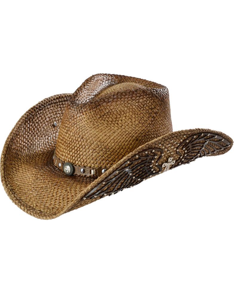 Bullhide Western Inspiration Straw Cowgirl Hat, Multi, hi-res