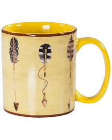 HiEnd Accents Large Arrow Design 4pc Mug Set, Yellow, hi-res