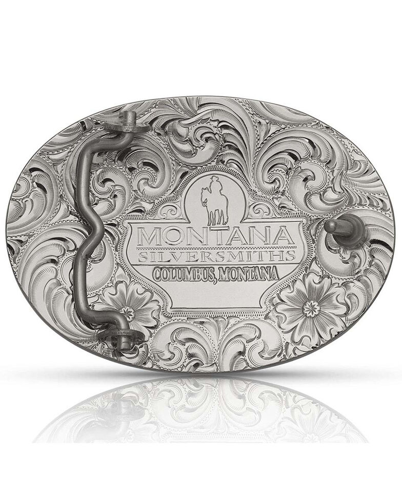 Montana Silversmiths Men's Classic Eagle Buckle, Silver, hi-res