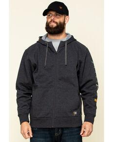 Ariat Men's Charcoal Rebar Camo Flag Graphic Hooded Zip Front Work Jacket - Big , Charcoal, hi-res