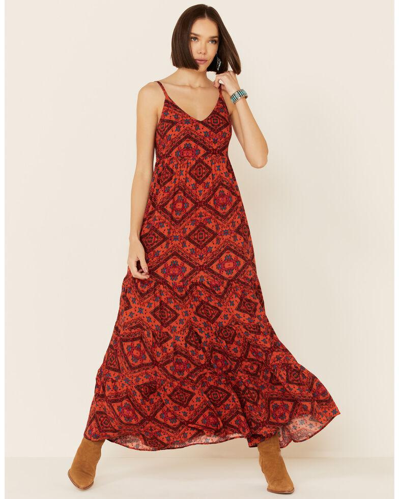 Shyanne Women's Chili Tile Dress, Chilli, hi-res