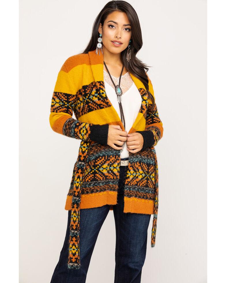 Idyllwind Women's Sunset Romance Sweater , Dark Yellow, hi-res