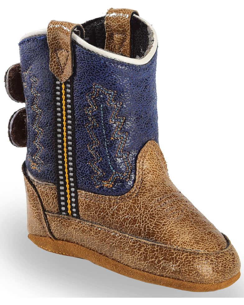 Cody James Infant Boys' Navy Boots - Round Toe, Brown, hi-res