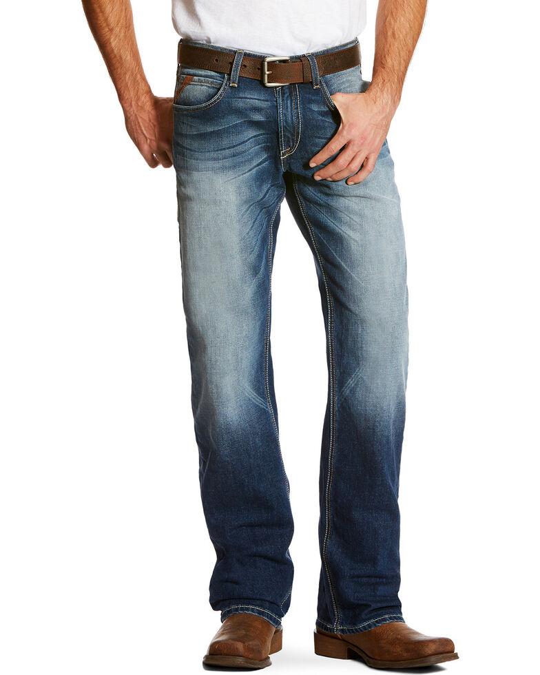 Ariat Men's Blue M5 Slim Fit Jeans - Straight Leg , Blue, hi-res