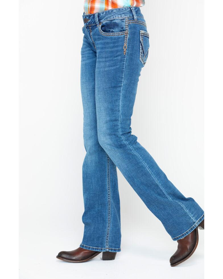 Wrangler Retro Women's Triple Stitched Low-Rise Boot Jeans , Blue, hi-res