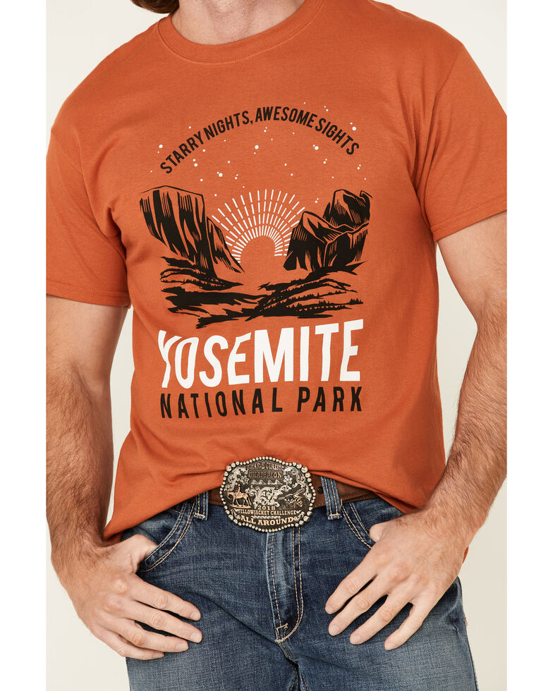 National Park Foundation Men's Rust Yosemite Graphic Short Sleeve T-Shirt , Rust Copper, hi-res