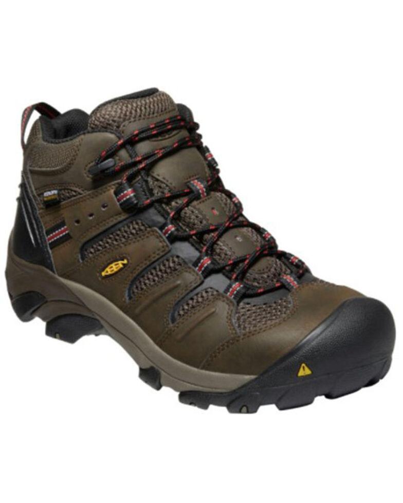 Keen Men's Lansing Waterproof Work Boots - Steel Toe, Brown, hi-res