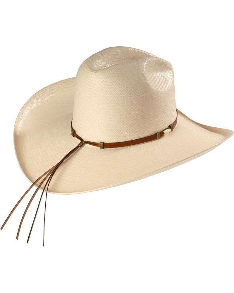 Resistol 6X Cisco Straw Cowboy Hat, Natural, hi-res