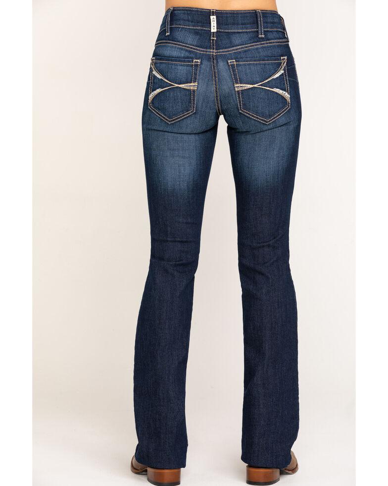 Ariat Women's Dark R.E.A.L. Lucia Bootcut Jeans, Blue, hi-res