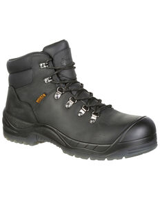 "Rocky Men's Worksmart Waterproof 5"" Work Boots - Composite Toe, Black, hi-res"