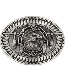 Montana Silversmiths Men's Eagle Spirit Belt Buckle, No Color, hi-res