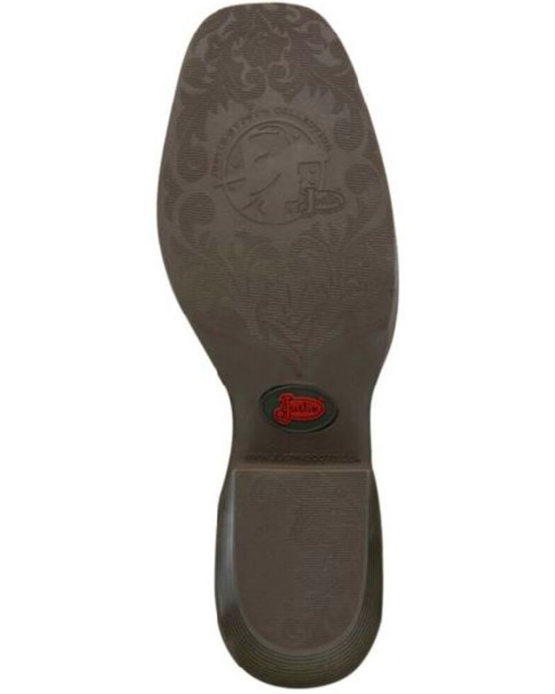 Justin Women's Sun Buffalo Western Boots - Square Toe, Brown, hi-res