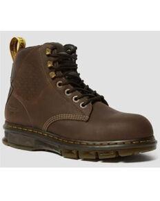 Dr. Martens Men's Britton Work Boots - Steel Toe, Brown, hi-res
