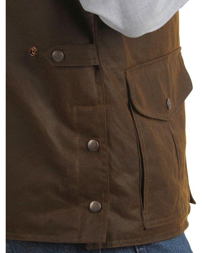 Outback Trading Co. Magnum Fleece Lined Oilskin Vest, Bronze, hi-res