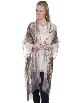 Honey Creek by Scully Women's Desert Aztec Print Kimono , Sand, hi-res