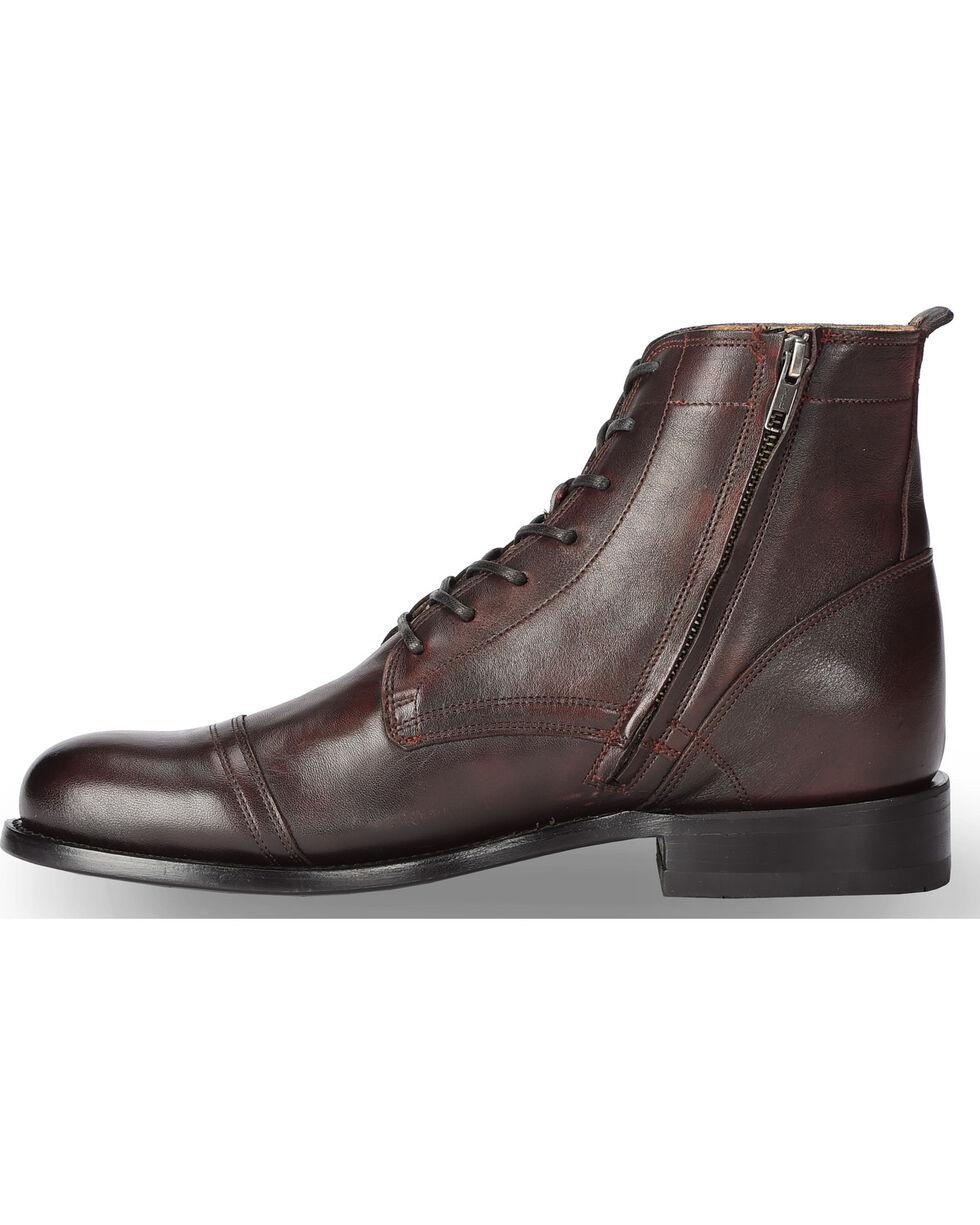 El Dorado Men's Handmade Black Cherry Leather Urban Lacer Boots - Round Toe, Black Cherry, hi-res