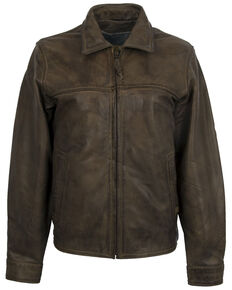 STS Ranchwear Women's Rifleman Leather Jacket - Plus, Beige/khaki, hi-res