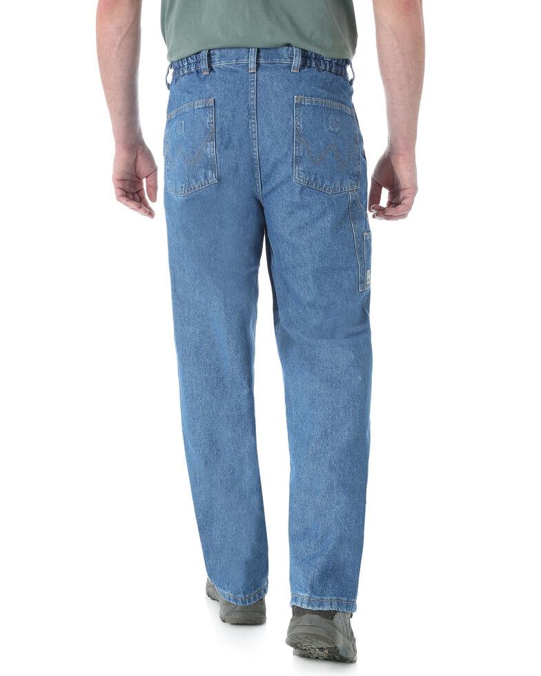 Wrangler Men's Rugged Wear Relaxed Angler Work Jeans - Big , Indigo, hi-res