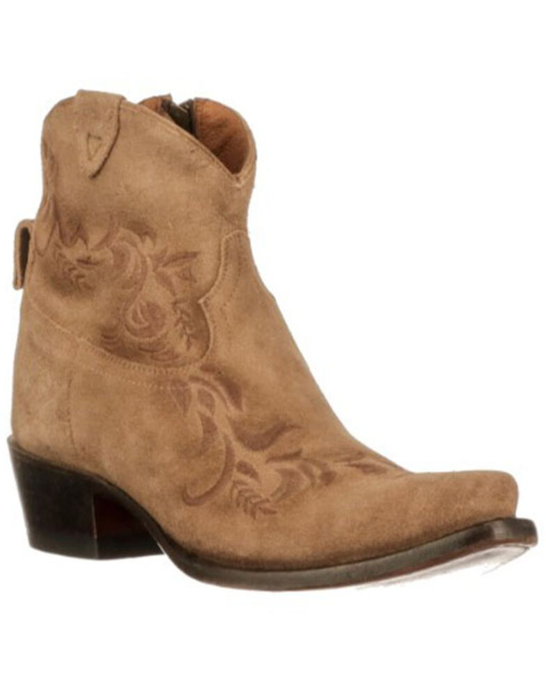 Lucchese Women's Ani Fashion Booties - Round Toe, Tan, hi-res