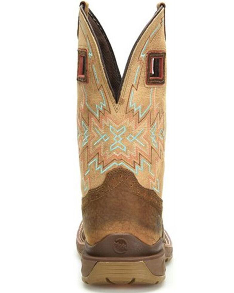 Double H Men's Phantom Rider Western Work Boots - Soft Toe, Medium Brown, hi-res