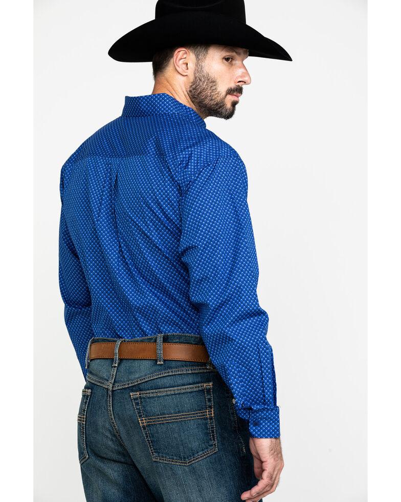 Cinch Men's Royal Blue Diamond Geo Print Long Sleeve Western Shirt , , hi-res