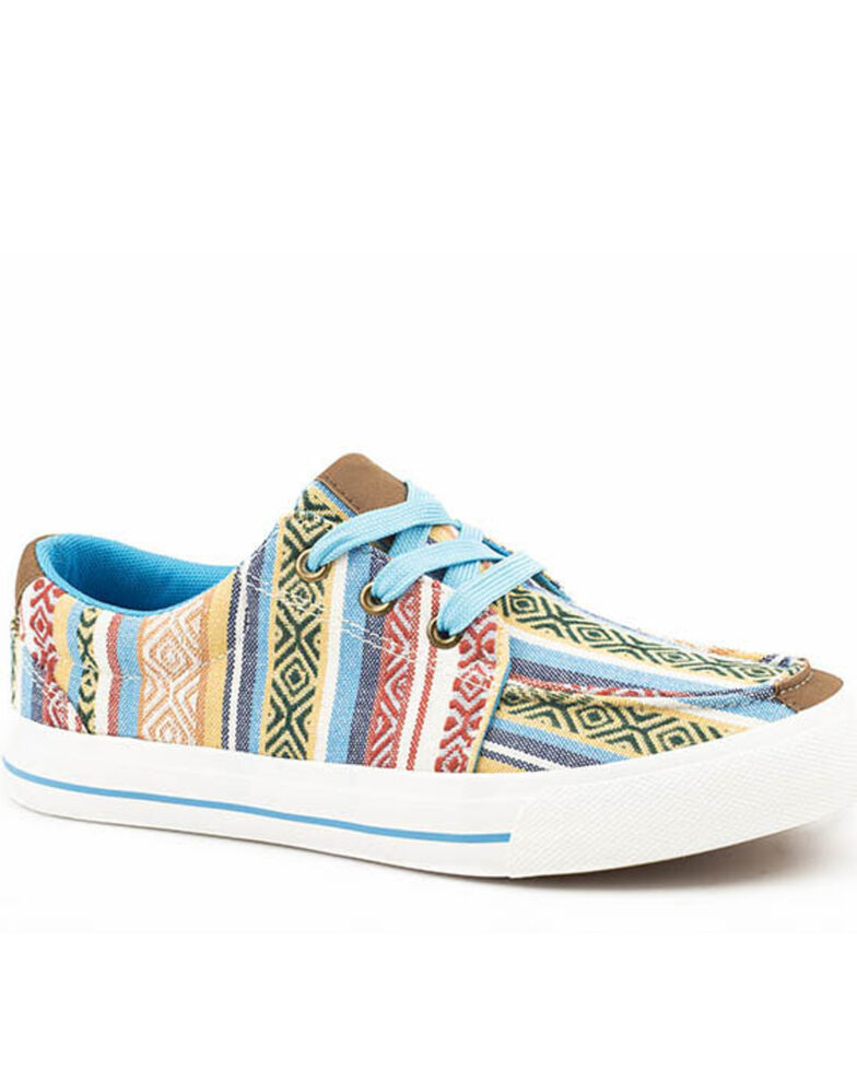Roper Women's Angel Fire Aztec Sneakers, Blue, hi-res